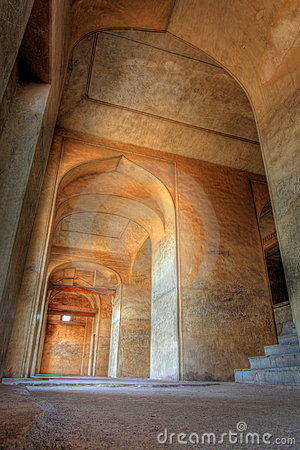 Dharbar Hall arches and detail, Golkonda Fort