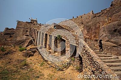 Dharbar Hall, Golconda Fort, Hyderabad Editorial Photo