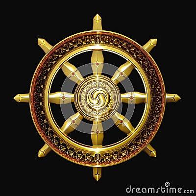 Dharma golden buddhism symbol