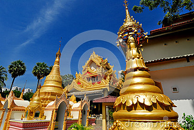 Dharmikarama Burmese Temple Editorial Stock Image