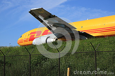 DHL Airbus taxiing Editorial Image