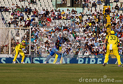 Dhoni batting Editorial Stock Photo