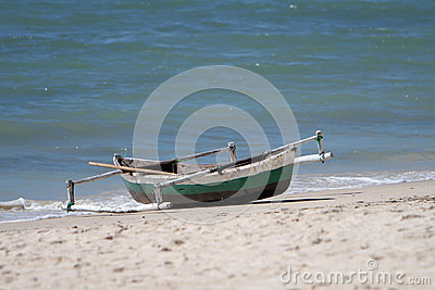 Dhow łódź w Mozambik lub czółno