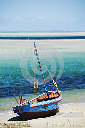 Dhow on a beach