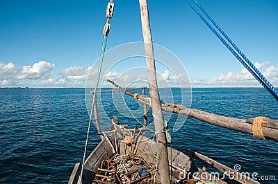 Dhow in Ocean