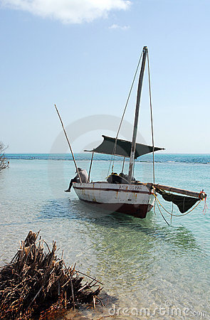 Dhow off the beach
