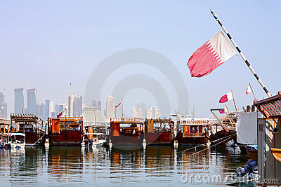 Dhows in Doha harbour