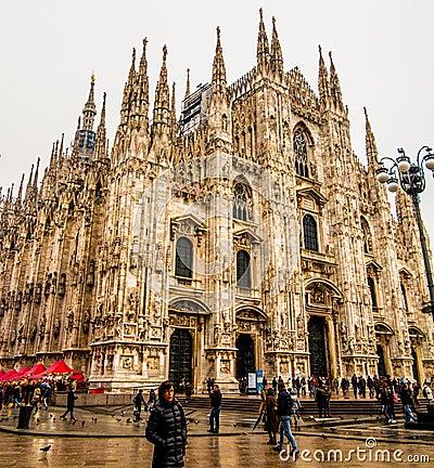 Di Милан Duomo Редакционное Изображение