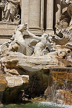 Фонтана di Trevi в Риме Италии