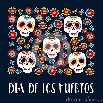 dia de los muertos greeting card, invitation. mexican day of the, Greeting card