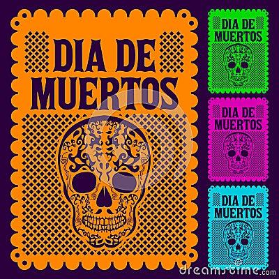 Free Dia De Muertos - Mexican Day Of The Death Set Royalty Free Stock Photos - 34433078