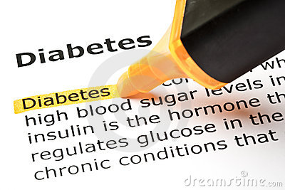 Diabetes  highlighted in orange