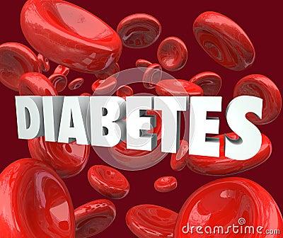 Diabetes Word Blood Cells Disorder Disease
