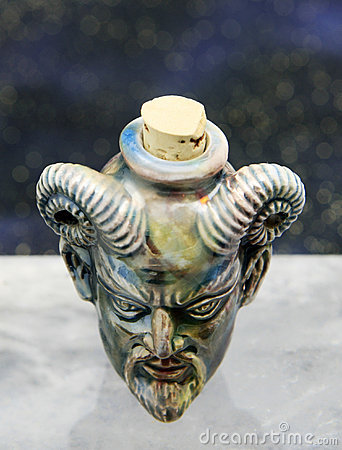 Diablo Raku Bottle
