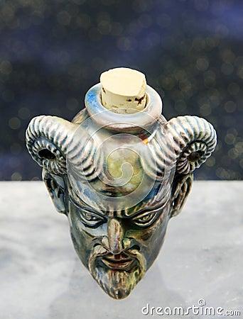 Diablo Raku Bottle