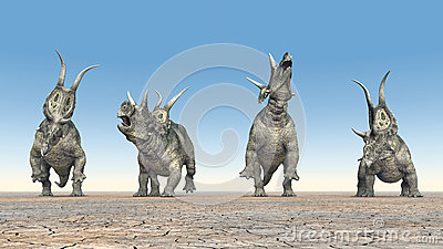 Dinosaurs Era Dinosaur Diabloceratop...