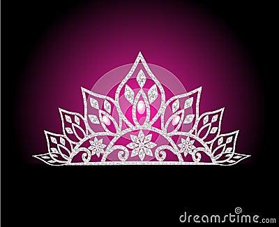 Diadem feminine wedding with pearl on rose