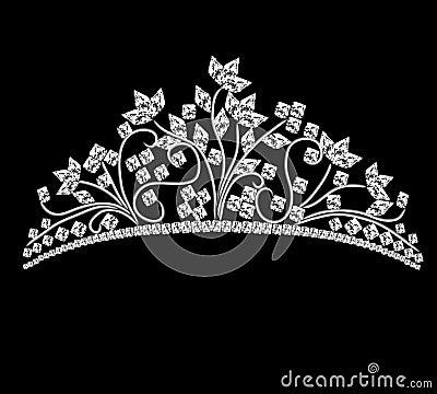 Diadem feminine wedding with rock crystals