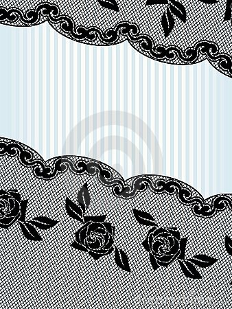 Diagnal black French lace background