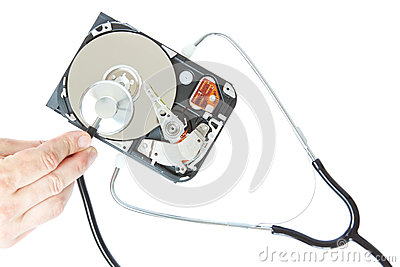 Diagnosis of a stethoscope hard drive.
