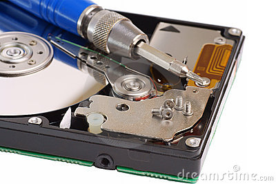 Diagnostic and repair magnetic computer hard disk