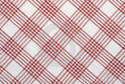 Diagonal checked cotton fabric