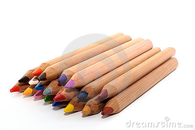 Diagonal colored pencils
