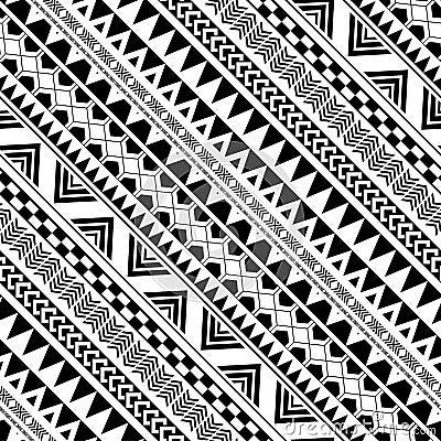Diagonal geometric pattern in Native Americans Vector Illustration