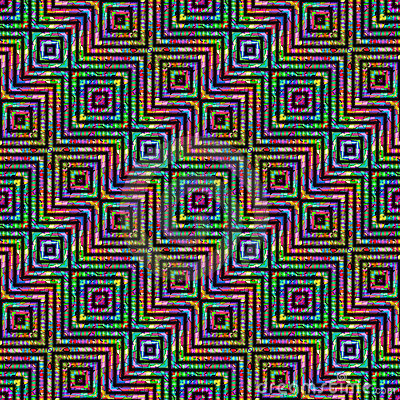 Diagonal mosaic pattern