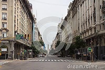 Diagonal Norte Buenos Aires Argentina Editorial Stock Photo