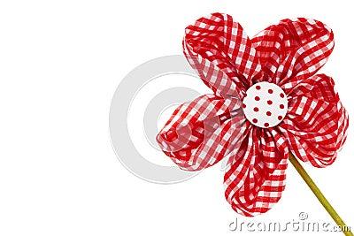 Diagonal red drapery flower blossom