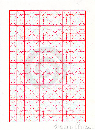 Diagonal Red Graph Paper
