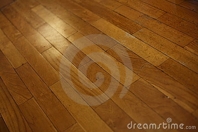 Diagonal Wood Plank Floor