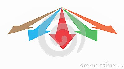 Diagram an arrow isolated on white background