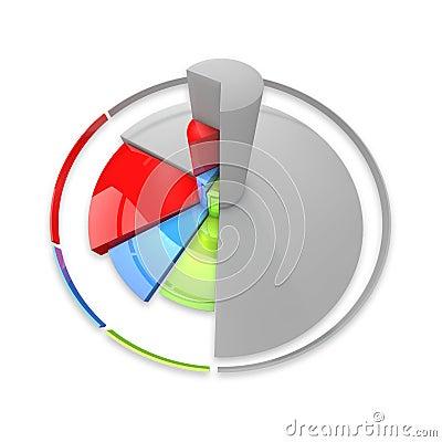 Free Diagram Shape Segment Colored Stock Photography - 9369142