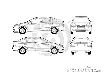 diagrama gen u00e9rico del coche del sal u00f3n fotograf u00eda de