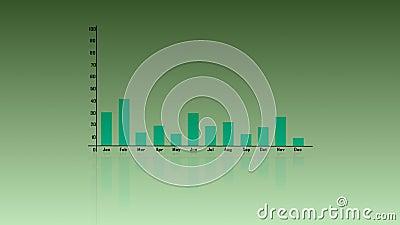 diagramme à barres d'accroissement des affaires 3d Diagramme de graphique de diagramme d'affaires Croissance d'investissement Aff illustration de vecteur