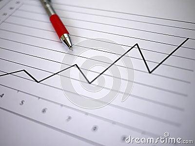 Diagramme et crayon lecteur