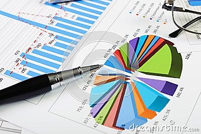 Diagrammes et graphiques des ventes