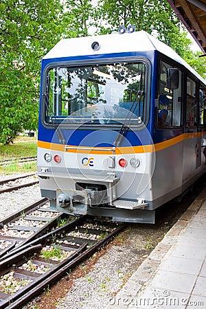 Free DIAKOFTO, GREECE - JUNE 14: Train Of Famous Diakofto-Kalavrita Railway, Historic 750 Mm Gauge Rack Railway On June 14, 2014. Pelo Royalty Free Stock Photos - 46710908