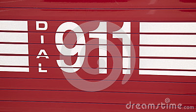 Dial 911 - decal