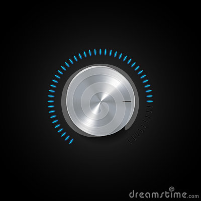 Free Dial And Glowing Blue Indicator Light Royalty Free Stock Images - 30792709