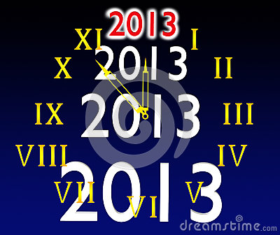 The dial of hours and 2013