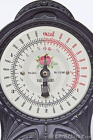 Dial of an old scale