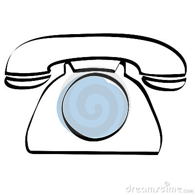 Dial telephone icon vector