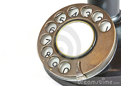 Dial from Vintage Candlestick Telephone