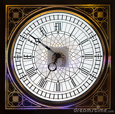 Dial of wall clock with an ornament