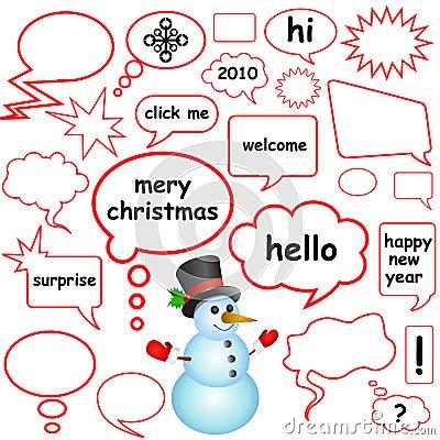 Dialog bubbles (christmas concept)