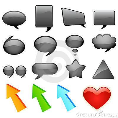 Dialog bubbles and icons