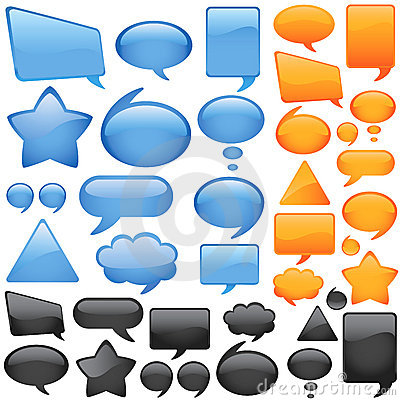 Free Dialog Bubbles Vector Royalty Free Stock Photos - 5855208